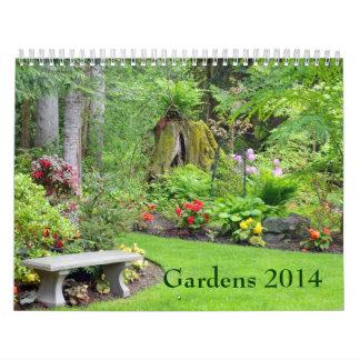 Beautiful garden print calendar