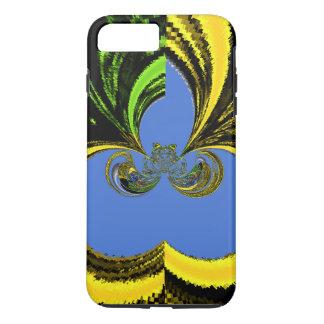 Beautiful Golden Blue latest abstract design iPhone 8 Plus/7 Plus Case