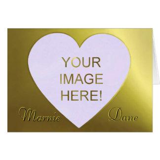 Beautiful Golden Lilac Heart Wedding Invitation Greeting Card
