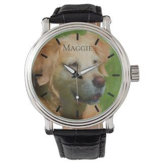 Beautiful Golden Retriever Custom Personalized Watch