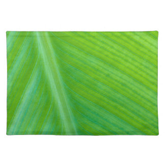 Beautiful Green Leaf Macro Photo Placemat