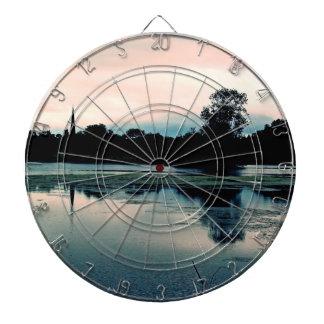 Beautiful Hillsborough Lake Reflection Dartboard