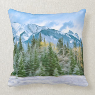 Beautiful landscape from winter time cushion