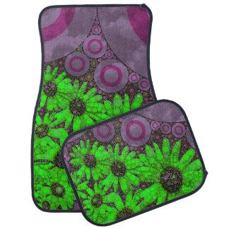 Beautiful Lavender Florescent Sunflowers Car Mat