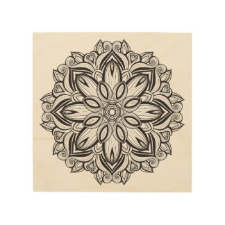 Beautiful Mandala 5 Wood Wall Decor