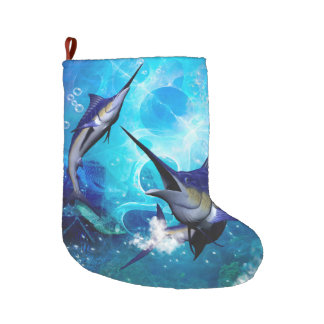 Beautiful marlins large christmas stocking
