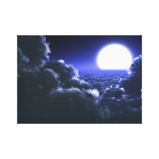 Beautiful moon night scenery gallery wrap canvas
