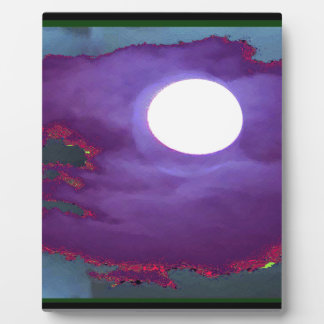 Beautiful   Moonlight  Sky Plaque