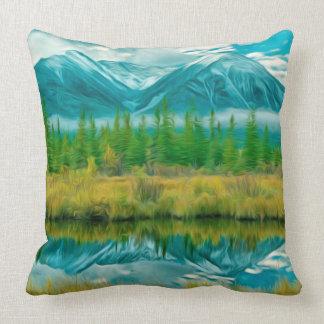 Beautiful Moraine Lake in Banff National Park Throw Pillow