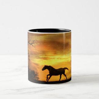 Beautiful Morning Sunrise Horse Coffee Mug
