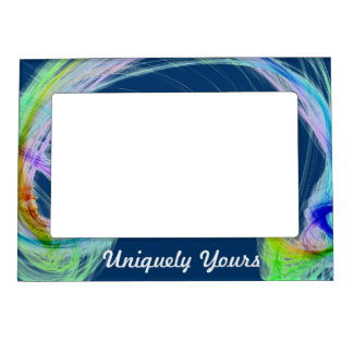 Beautiful MultiColor Light on Navy Background Magnetic Picture Frame