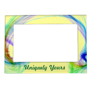 Beautiful MultiColor Light on Yellow Magnetic Picture Frame