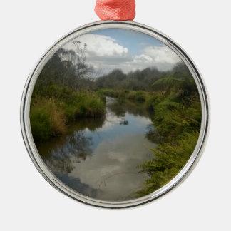 Beautiful New Zealand Landscape. Quiet, reflective Christmas Ornament