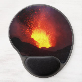 Beautiful night eruption volcano gel mouse pad