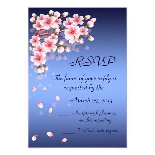 Beautiful Night Sakura RSVP card