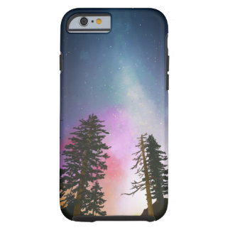 Beautiful night sky shining up to the heavens tough iPhone 6 case