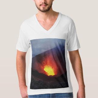 Beautiful night volcanic eruption in Kamchatka T-Shirt