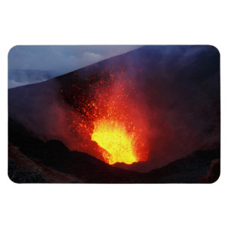 Beautiful night volcanic eruption magnet