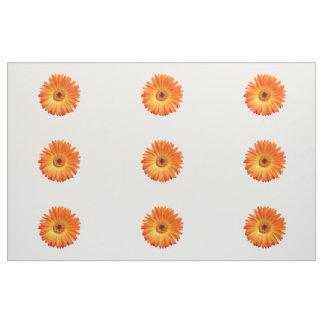 Beautiful Orange Gerbera Daisy II Combed Cotton Fabric