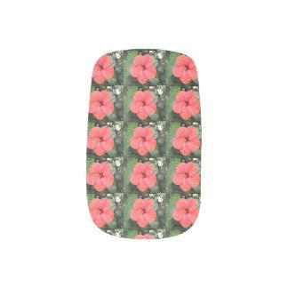 Beautiful Orange Hibiscus Flower False Nails Minx Nail Art