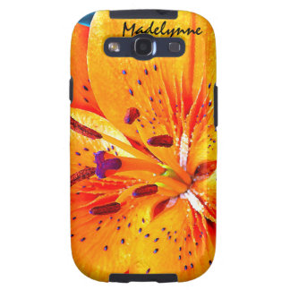 Beautiful Orange Lily Flower Blossom Samsung Galaxy SIII Covers