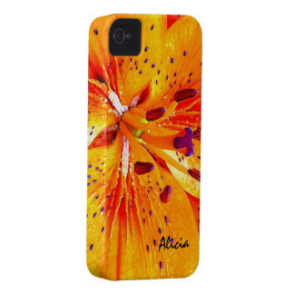 Beautiful Orange Lily Flower Blossom iPhone 4 Case