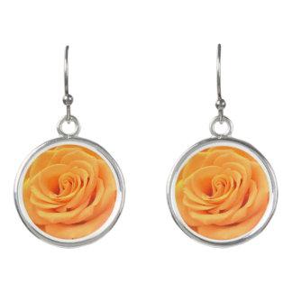 Beautiful orange rose summer drop earrings