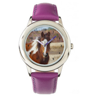 Beautiful Paint Horse Kids Watch