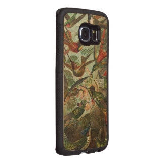 Beautiful Painted Vintage Birds Wood Phone Case