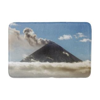 Beautiful peak active volcano bath mats