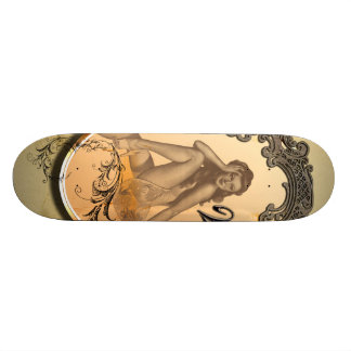 Beautiful pin up girl skate board
