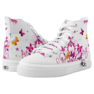 Beautiful Princess Girly colourful Butterfly High Tops