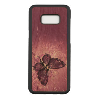 Beautiful purple butterfly swirl abstract art carved samsung galaxy s8+ case