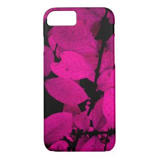 BEAUTIFUL PURPLE PINK LEAVES FOLIAGE iPhone 8/7 CASE
