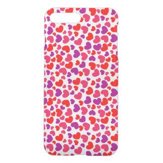 beautiful purple red love hearts vector art iPhone 8 plus/7 plus case