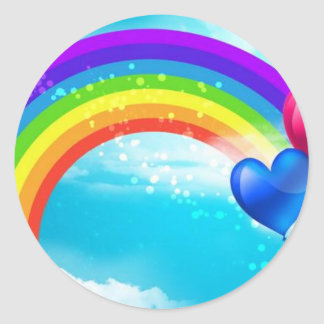 Beautiful Rainbow Round Sticker