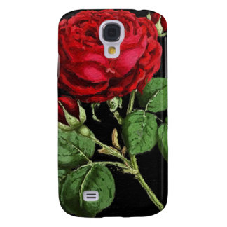 Beautiful Red Abstract Texture Rose Galaxy S4 Case
