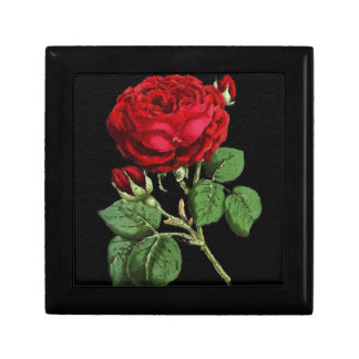 Beautiful Red Abstract Texture Rose Gift Box