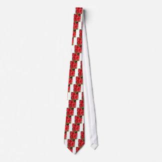 Beautiful Red Azaleas Tie