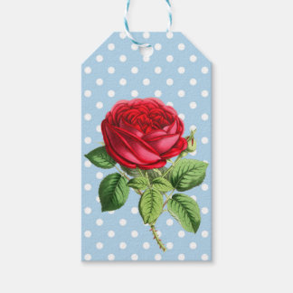 Beautiful red rose gift tags
