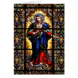 Beautiful Religious Sacred Heart of Virgin Mary Card