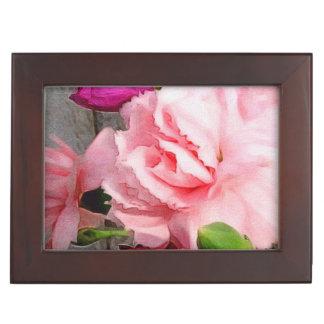 Beautiful Rose Floral Abstract Keepsake Box