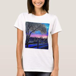 Beautiful rustic winter scene T-Shirt