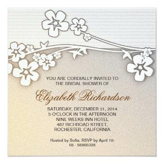 "beautiful sakura  bridal shower invitation 5.25"" square invitation card"