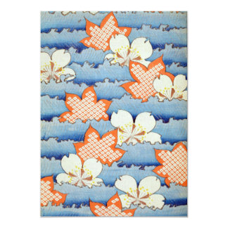 Beautiful Sakura Flower Art 13 Cm X 18 Cm Invitation Card