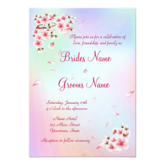 "Beautiful Sakura 5"" X 7"" Invitation Card"