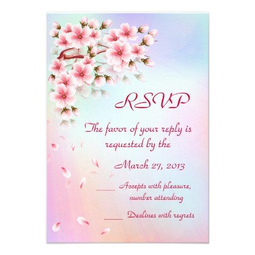 Beautiful  Sakura RSVP card
