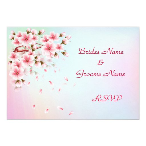Beautiful Sakura RSVP cards
