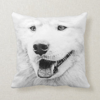 Beautiful Samoyed dog art Cushion