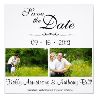 Beautiful Save the Date 5.25x5.25 Square Paper Invitation Card